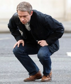 Martin Freeman hypothetically taking a dump